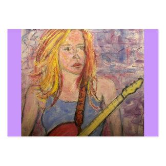 folk rock girl reflections business cards