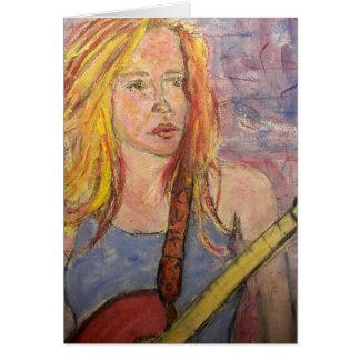 folk rock girl reflections Peace On Earth Greeting Card