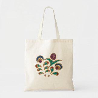 Folk Tulip Tote Bag