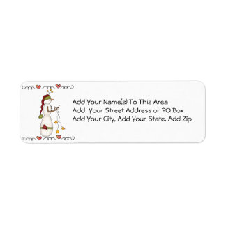 Folkart Snowman Return Address Labels