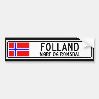 Folland, More Og Romsdal Bumper Sticker