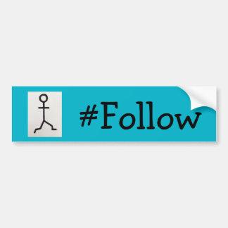 #Follow Bumper Sticker