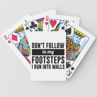 Follow in my Footsteps Bicycle Playing Cards