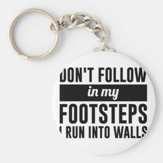 Follow in my Footsteps Key Ring