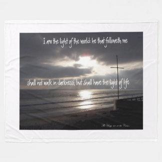 Follow Jesus, Light of World, Fleece Blanket