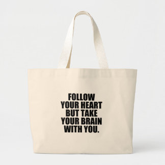 follow jumbo tote bag