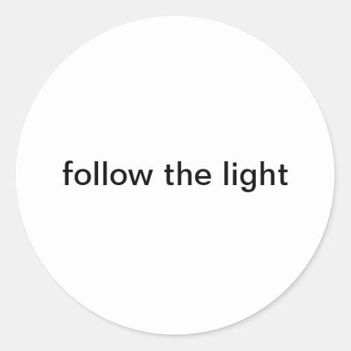 follow light round sticker