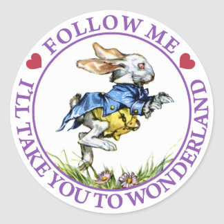 Follow me - I ll take you to Wonderland Stickers
