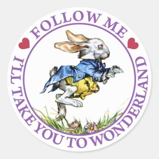 Follow me - I'll take you to Wonderland! Stickers