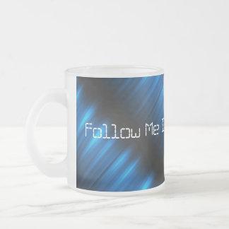 Follow Me Into the Future Electric Blue Pulse Cup Mug