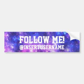 Follow Me Personalized Galaxy Bumper Sticker