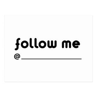 follow me @ postcard