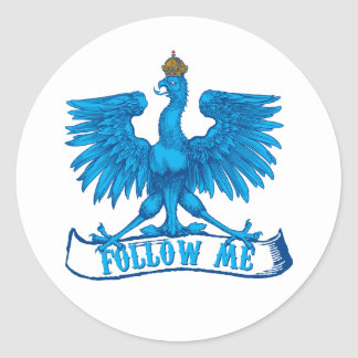 Follow me round stickers