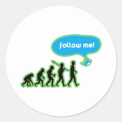 Follow Me! Stickers
