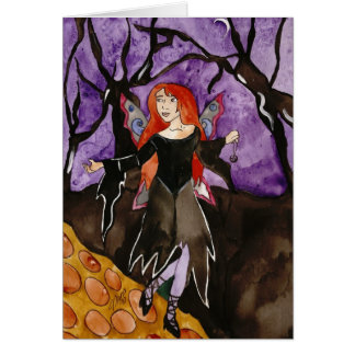 Follow me to the light Halloween Greeting Card