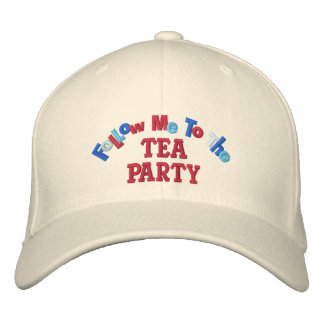 Follow Me to the Tea Party Embroidered Hat