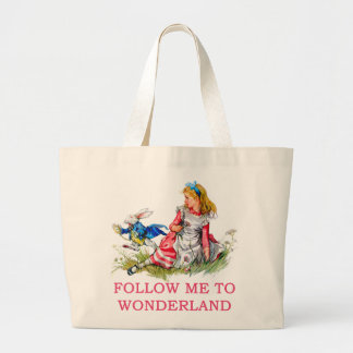 FOLLOW ME TO WONDERLAND CANVAS BAGS
