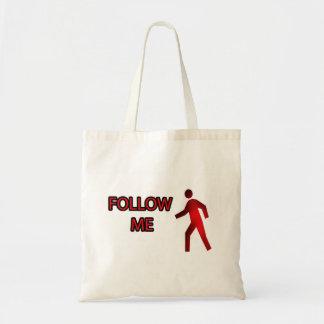 Follow Me Budget Tote Bag