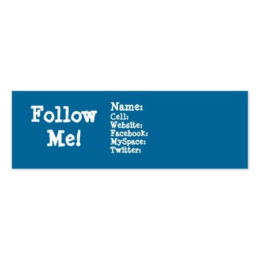 Follow me! Twitter Business Card Template
