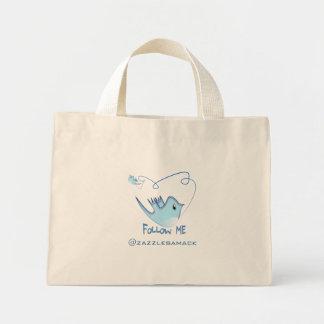 Follow ME Twitter  Gifts and Swirls T-shirts Mini Tote Bag