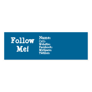 Follow me! Twitter Pack Of Skinny Business Cards