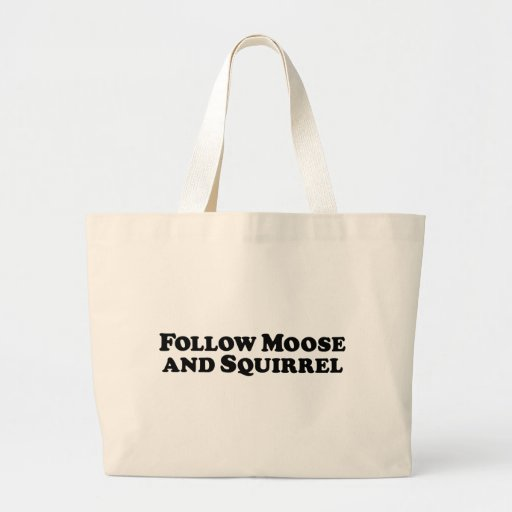 Follow Moose and Squirrel - Mixed Clothes Tote Bag