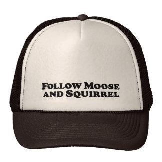 Follow Moose and Squirrel - Mixed Clothes Cap