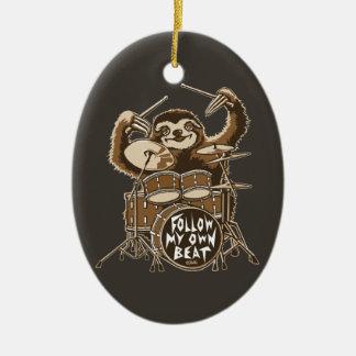 Follow my own beat ceramic ornament