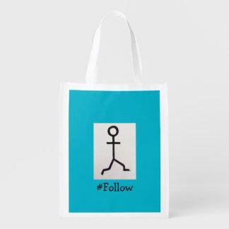 #Follow Reusable Bag Grocery Bags