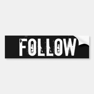 Follow Sticker Black Bumper Sticker