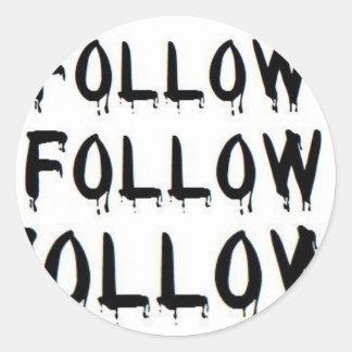 Follow Sticker white