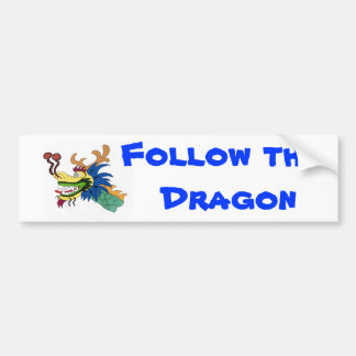 Follow the dragon bumper sticker