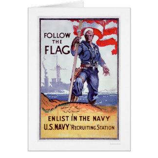 Follow the Flag - Enlist Navy (US02290A) Card