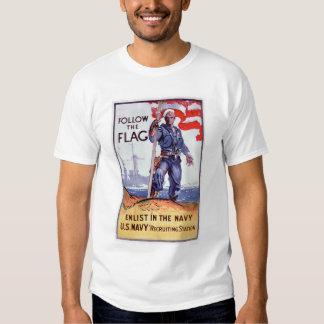 Follow the Flag - Enlist Navy (US02290A) T Shirt
