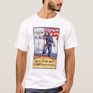 Follow the Flag - Enlist Navy (US02290A) T-Shirt