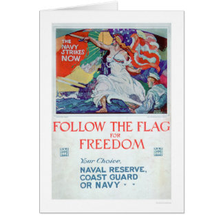 Follow the Flag of Freedom (US02179) Greeting Card