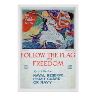 Follow the Flag of Freedom (US02179) Poster