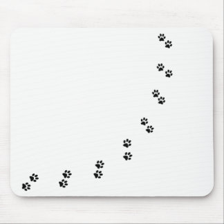 Follow the footsteps mouse pad