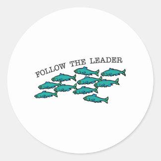 Follow The Leader Round Sticker