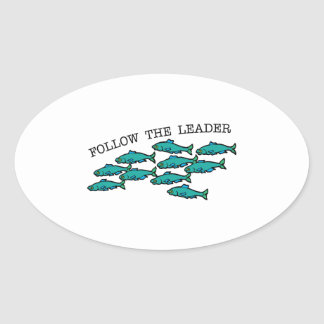 Follow The Leader Oval Stickers