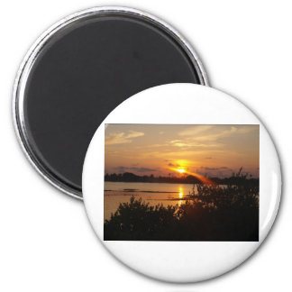 Follow the light home 6 cm round magnet