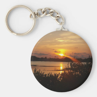 Follow the light home basic round button key ring
