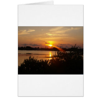 Follow the light home greeting card