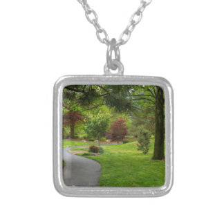 Follow The Path Pano Silver Plated Necklace