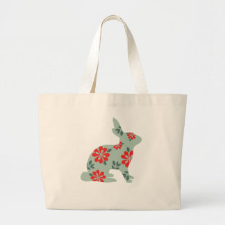Follow the rabbit Alice matrix fair isle print Large Tote Bag