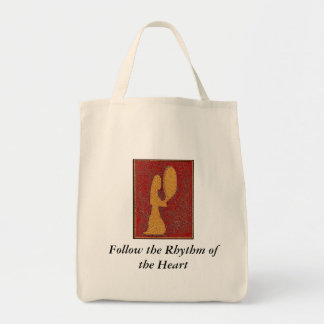 Follow the Rhythm of the Heart Grocery Tote Bag