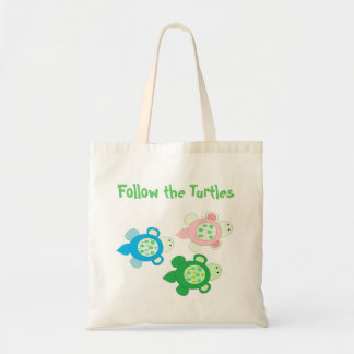 Follow the Turtles Budget Tote Bag
