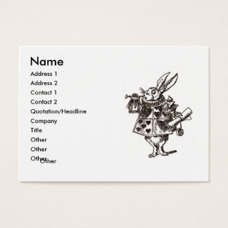 follow the white rabbit business card
