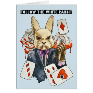 follow the White Rabbit Card