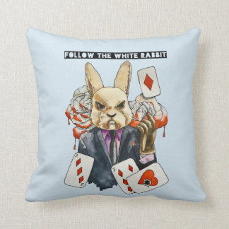 follow the White Rabbit Cushion